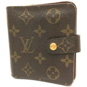 Auth Louis Vuitton Monet Small Bifold Wallet